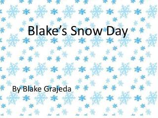 Blake's  Snow Day