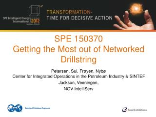 SPE 150370 Getting the Most out of Networked Drillstring
