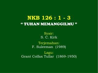 NKB 126 : 1 - 3