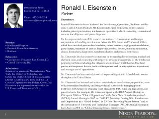 Ronald I. Eisenstein Partner