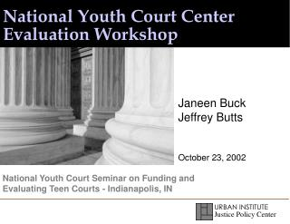 National Youth Court Center Evaluation Workshop