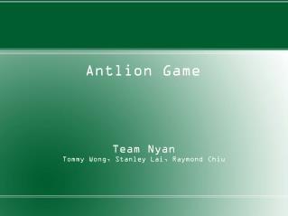 Antlion Game