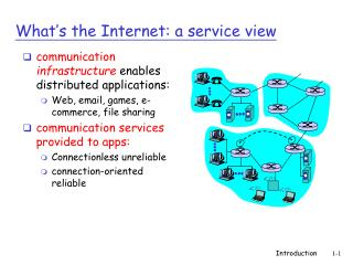 What�s the Internet: a service view