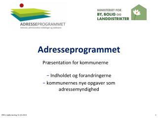Adresseprogrammet