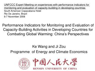 Performance Indicators for Monitoring and Evaluation of Capacity-Building Activities in Developing Countries for Combati