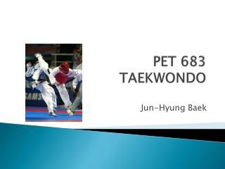 PET 683 TAEKWONDO