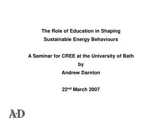 The Role of Education in  Shaping  Sustainable Energy  Behaviour s