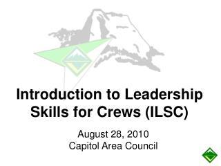 August 28, 2010 Capitol Area Council