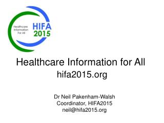 Healthcare Information for All hifa2015