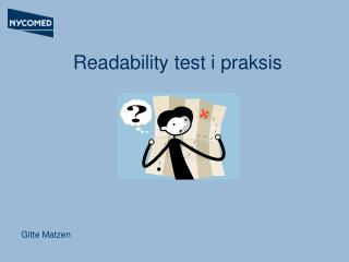 Readability test i praksis