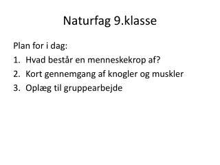 Naturfag 9.klasse