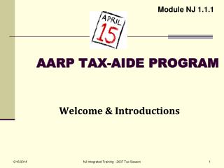 AARP TAX-AIDE PROGRAM