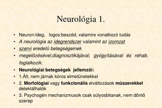 Neurológia 1.