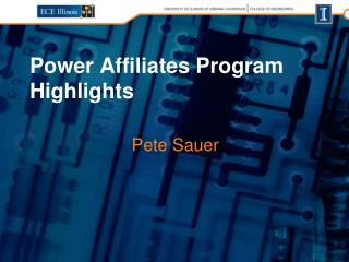 Power Affiliates Program Highlights
