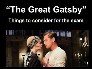 �The Great Gatsby�