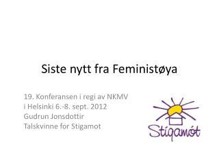 Siste nytt fra Feminist øya