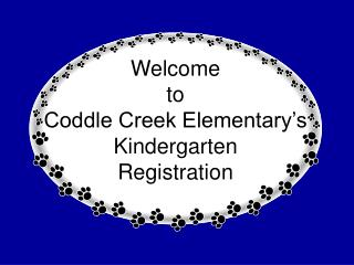 Welcome  to  Coddle Creek Elementary's Kindergarten  Registration