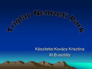 K észitette : Kovács Krisztina XI.B.osztály