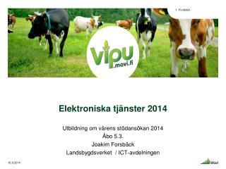 Elektroniska tjänster 2014