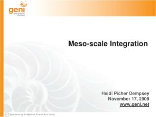 Meso-scale Integration