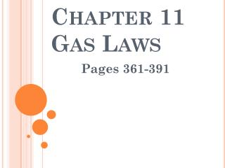Chapter 11 Gas Laws
