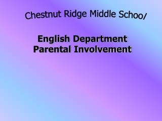 English Department Parental Involvement