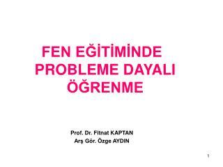 FEN EĞİTİMİNDE PROBLEME DAYALI ÖĞRENME Prof. Dr. Fitnat KAPTAN Arş Gör. Özge AYDIN