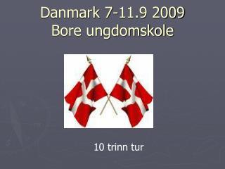Danmark 7-11.9 2009 Bore ungdomskole