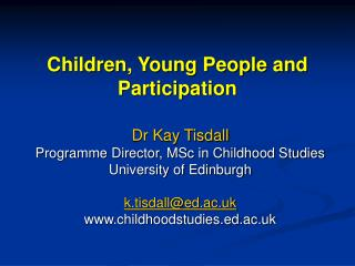 Children, Young People and Participation