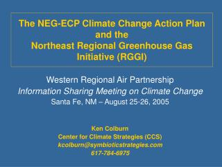 Western Regional Air Partnership Information Sharing Meeting on Climate Change