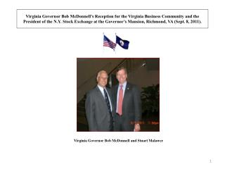 Virginia Governor Bob McDonnell and Stuart Malawer