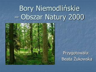 Bory Niemodlińskie  – Obszar Natury 2000