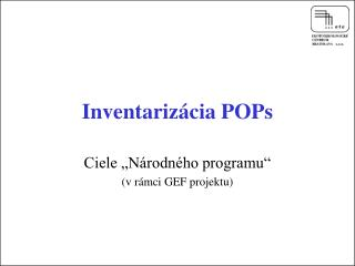 Inventarizácia POPs