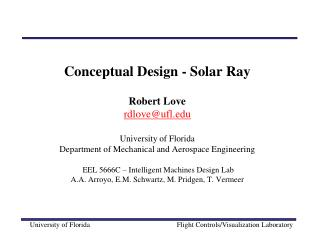 Solar Ray - Project Goals