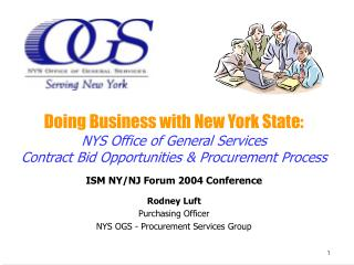 Doing Business with New York State: NYS Office of General Services
