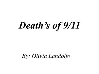 Death's of 9/11
