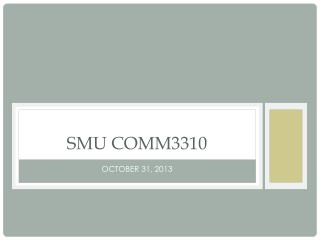 SMU COMM3310