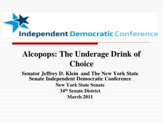 Alcopops: The Underage Drink of Choice