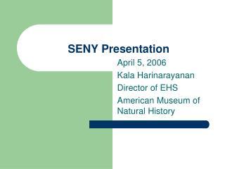 SENY Presentation