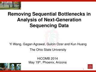 Removing Sequential Bottlenecks in Analysis of Next-Generation Sequencing Data