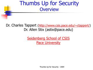 Thumbs Up for Security Overview