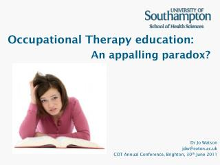 Occupational Therapy education: