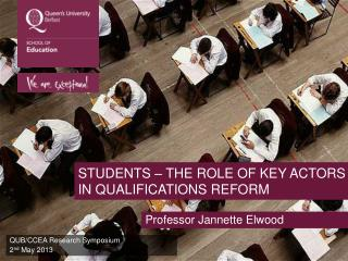 Students – the role of key actors in qualifications reform