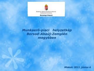 Munkaerő-piaci   helyzetkép Borsod-Abaúj-Zemplén megyében