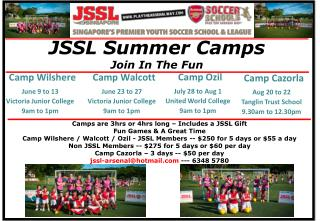 JSSL Summer Camps Join In The Fun
