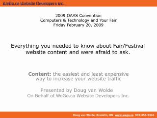 Everything you needed to know about Fair/Festival website content and were afraid to ask.