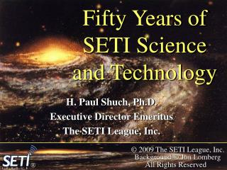 Fifty Years of SETI Science and Technology