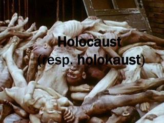 Holocaust  (resp.  holokaust )