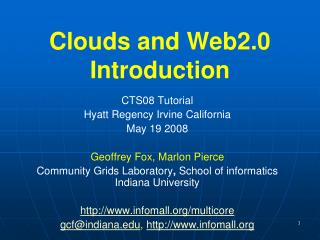 Clouds and Web2.0 Introduction