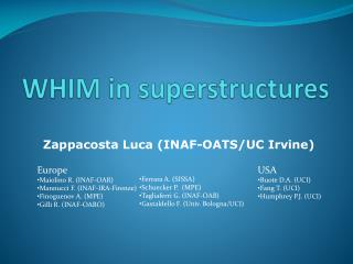 WHIM in superstructures
